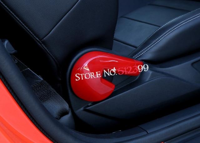 4 kleuren abs plastic interieur rugleuning aanpassing aanpassen knop cover trim auto styling voor ford