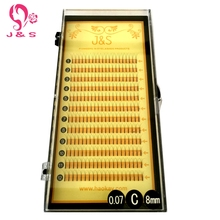 3pc 0.07MM 0.10MM Thick Long premade fans W Knot Free False Eyelashes , C D Curl  Freeshipping mink lashes for building 3D