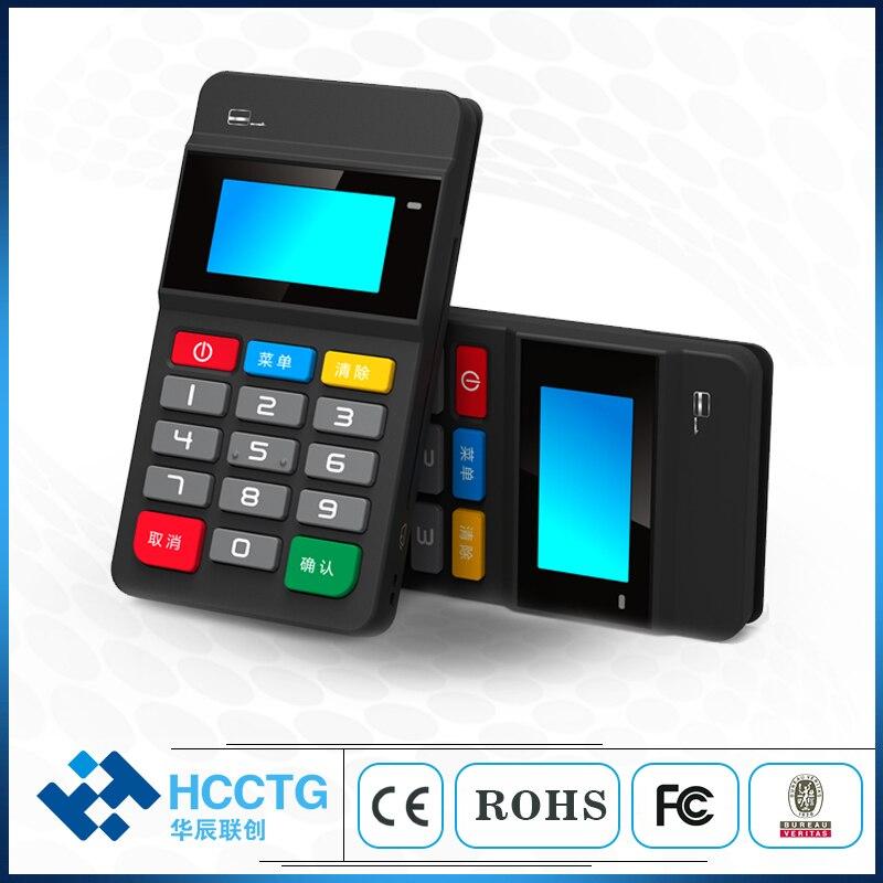 Sans fil Bluetooth MPOS Terminal Mobile POS paiement avec NFC + magnétique + lecteur de carte à puce passé PCI et EMV certificat HTY711