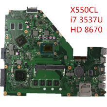Original Laptop Motherboard X550CL REV:2.0 i7-3537U CPU AMD Radeon HD 8670M 100% fully tested & working