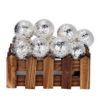 10 Silver Ball LED Fairy Light Battery Operated Metal Hollow LED Light String For Decoration