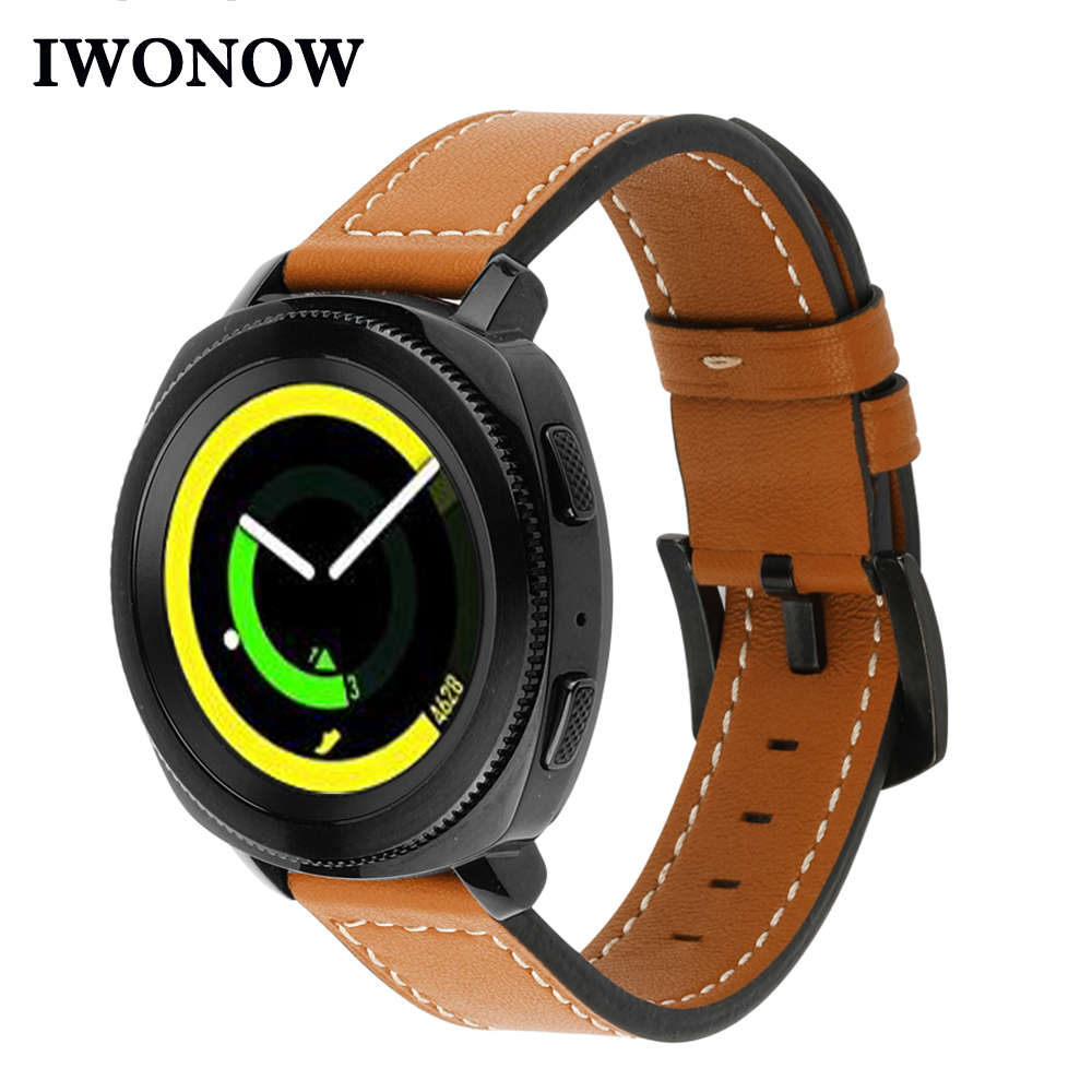 20mm Genuine Leather Watchband for Samsung Gear Sport R600 / S2 Classic R732 R735 Amazfit Bip Quick Release Strap Watch Band все цены