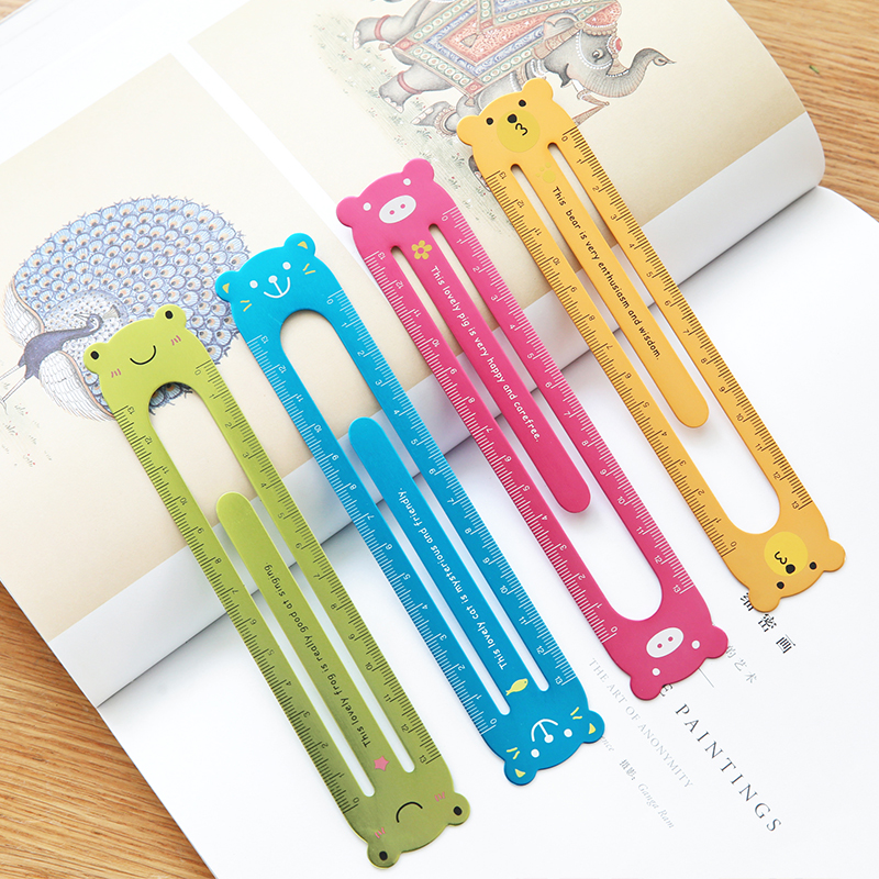 Fromthenon Cute Animal Ruler 13cm Korean Metal Bookmark Paper Clips Notebook And Journals Accessories Office And School Supplies