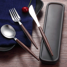 LANSKYWARE Western Cutlery Set 304 Stainless Steel Dinnerware Kitchen Knife Spoon Fork Dinner Portable Travel Tableware