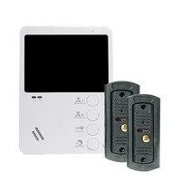YSECU 4 TFT LCD Color Door Phone Video Intercom Camera With Door Bell Entry System 2