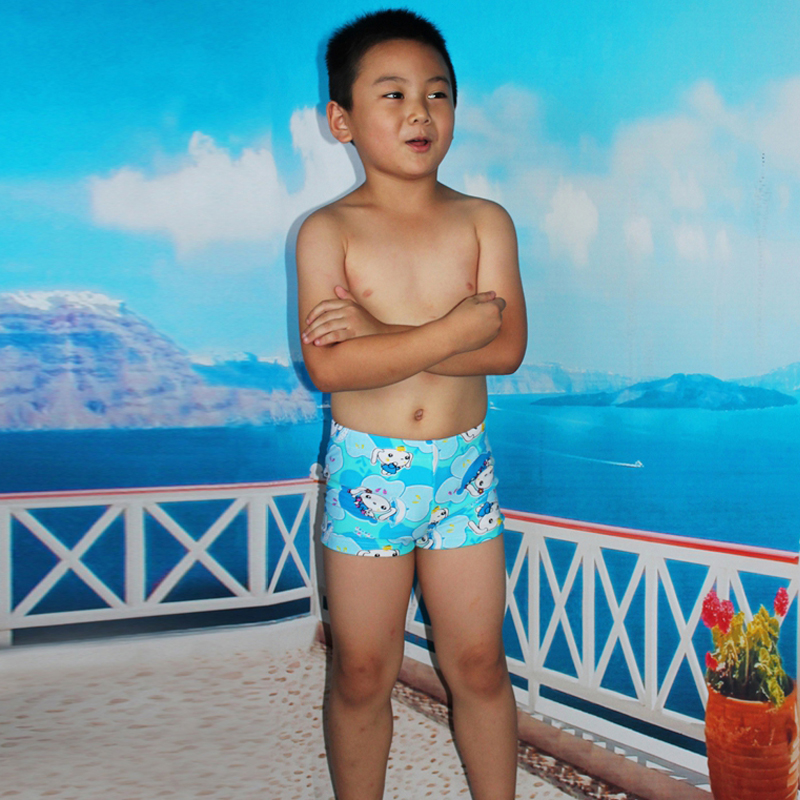 2a0dcbe7c8 Summer Children swimming trunks Floral print Cartoon Boys' Swimwear  Swimming underwear 7 9 years old children kids bathing suit-in Men's Trunks  from Sports ...