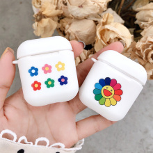 Cute Sunflower Floral Soft TPU Case for Apple Airpods 1/2 Cover Dog Poppy Sexy Lip Bluetooth Wireless Earphone Box Headphone Bag