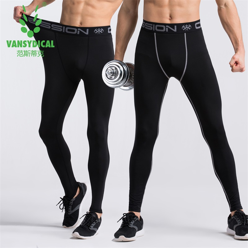 Men Sports Leggings Fitness Pants Quick Dry Running Compression Training Pants