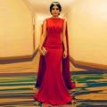 Simples cabo vestido Sukienki Kaftan Maxi Dress For Party Festliche Damen Kleider 2016 Lang Red sereia vestidos de noite estilo árabe