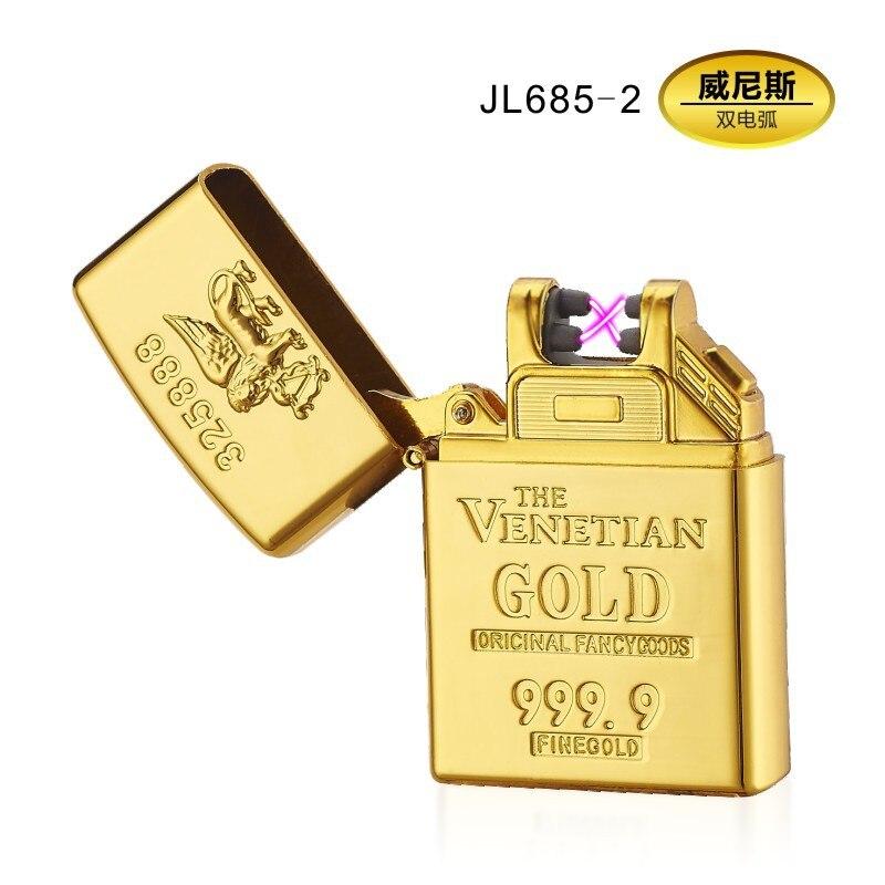 Latest Rechargeable Windproof Cigarette Usb Arc Lighter Plasma Flameless Electric Fashion Plasma Lighters Gadgets for Men