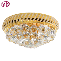 Youlaike Modern Crystal Ceiling Lights For Living Room Bedroom Luxury Gold Cristal Lustres AC110 240V Lamparas de techo