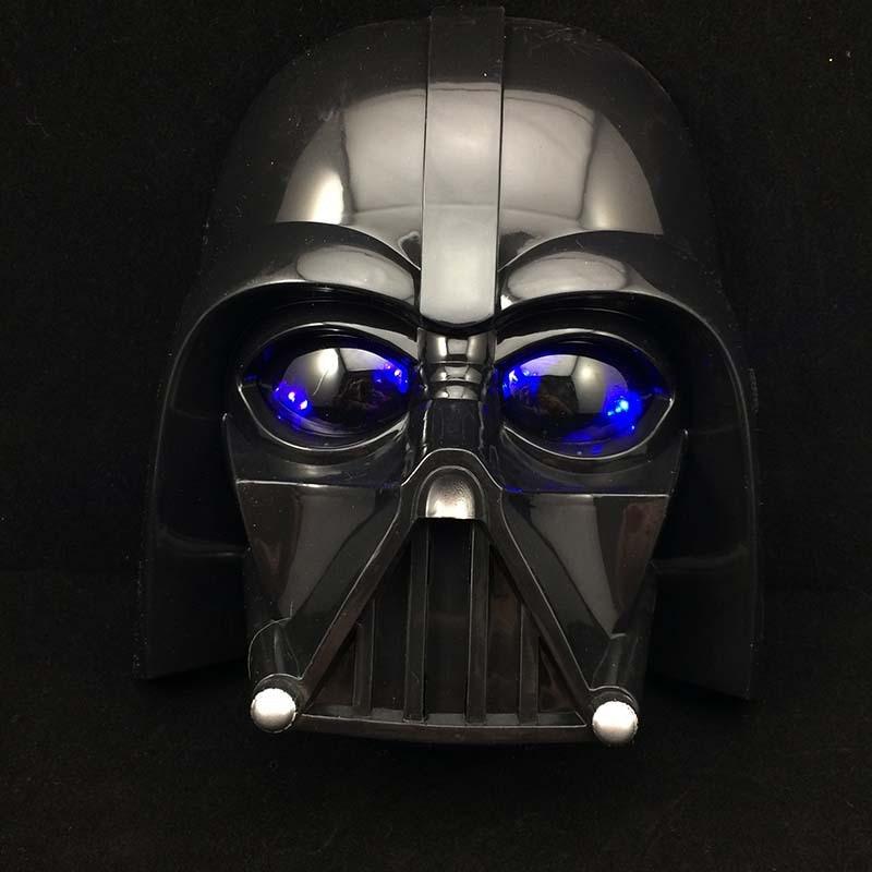 Star Wars Topeng LED Lighti Masker Halloween dan Natal PV Darth Vader Masker Kerajaan Clone Tentara Bercahaya Topeng Mainan Anak masker