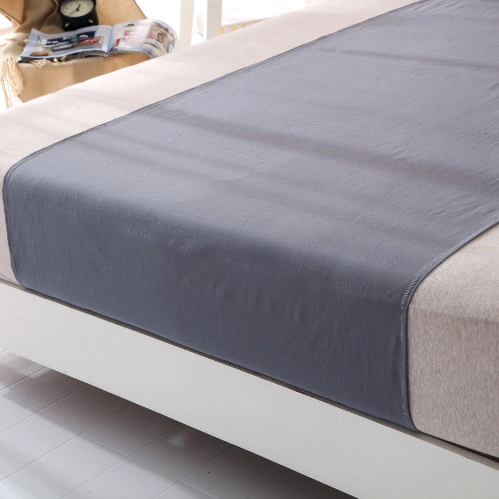 Sleep better Cotton grey Silver Half bed Sheet (60 x 270cm) Antimicrobial Fabric Conductive Grounding earthing sleep