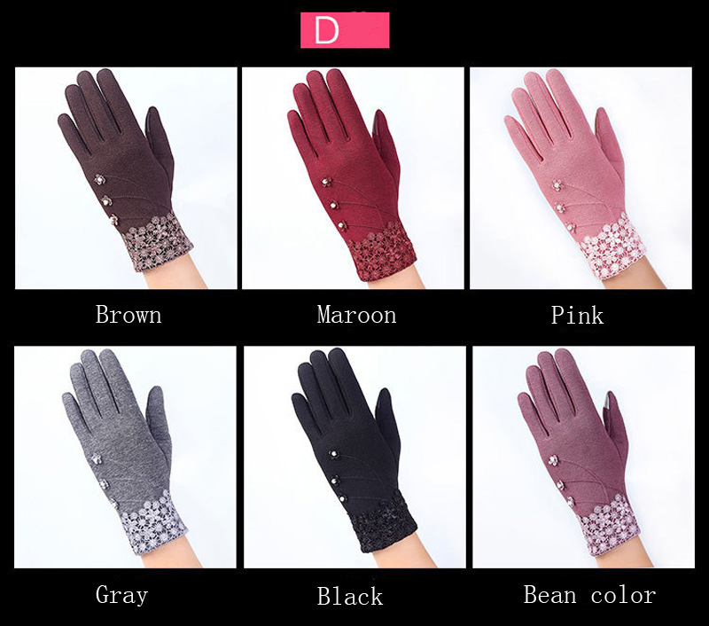 NIUPOZ Fashionable and Elegant Women Touch Screen Gloves for Winter made of Non Inverted Velvet to Keep Hands Warm 6