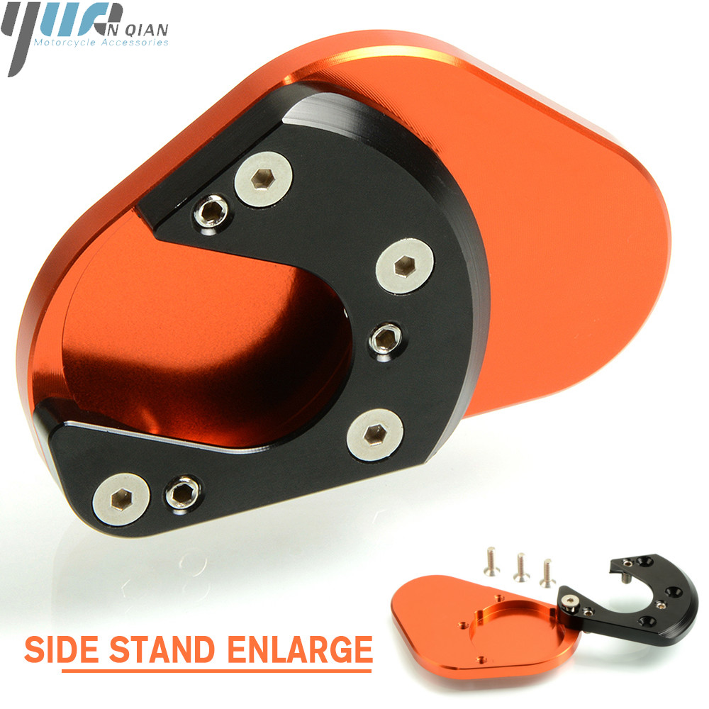 For KTM 950 Super Enduro/SM 01  11 1190 Adventure DUKE 125 200 390 Motorcycle CNC Side Stand Enlarge for Husqvarna 701 Enduro-in Stands from Automobiles & Motorcycles