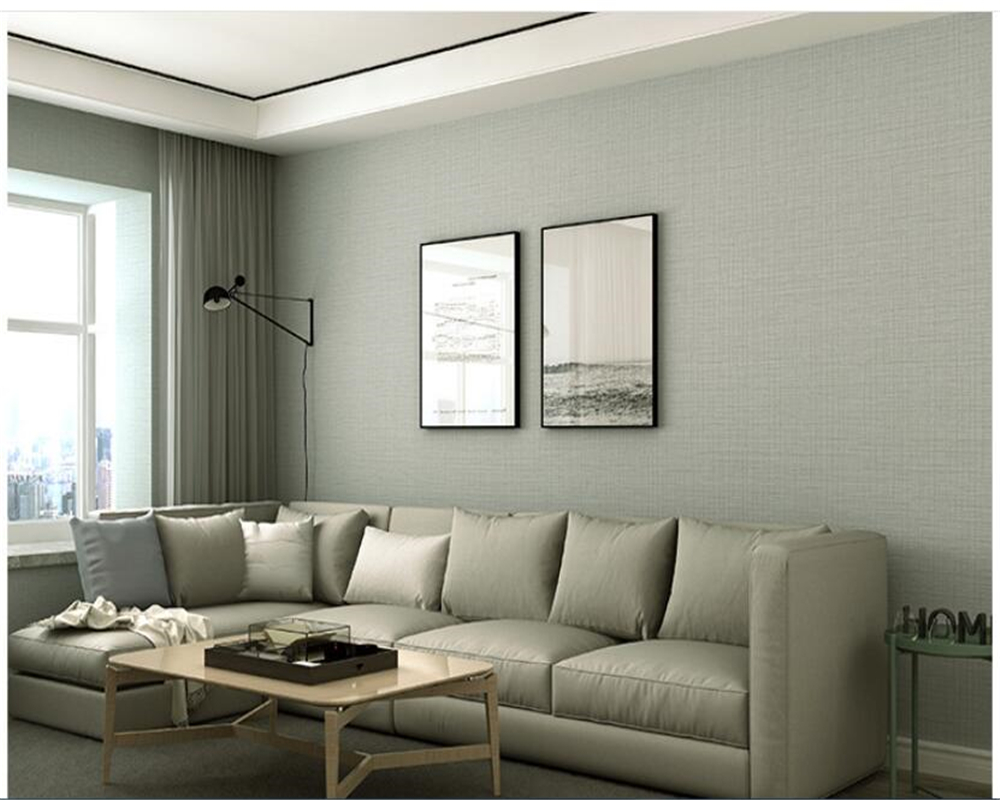 plain bedroom background 3d simple solid pvc modern living beibehang imitation silk gray wallpapers