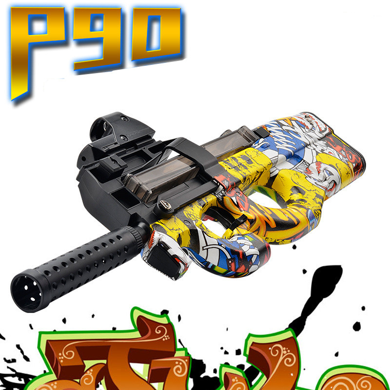 P90 Electric Rifle soft bullet live CS Continuous Firing Toy Guns airsoft pistol Outdoor Fun Sports Game Toy soft air guns