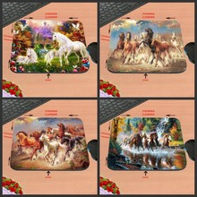 2017 Running Horse Custom Rubber Print Mouse Mat Laptop Computer Gaming Mice Pads For Optical Laster Mats 18*22/25*20/29*25*2cm