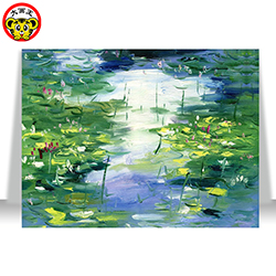 Monet's water lilies Water lily Oil Painting By Numbers DIY Digital Pictures Coloring By Number On Canvas Unique Gifts Home Dec