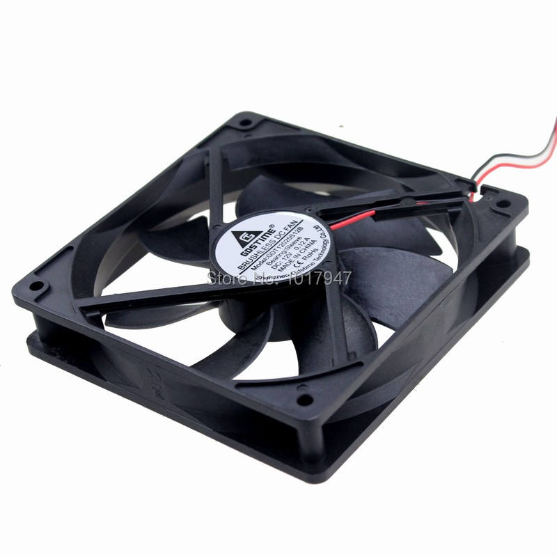 5Pieces LOT Gdstime 120mm 120*120*25mm 12025S DC 12V 4Pin Cooler Computer Cooling Fan