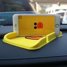 Phone-Holder Anti-Slip mat Prompt-Accessories Cartoon Decoration Sticky-Pad Car-Ornament