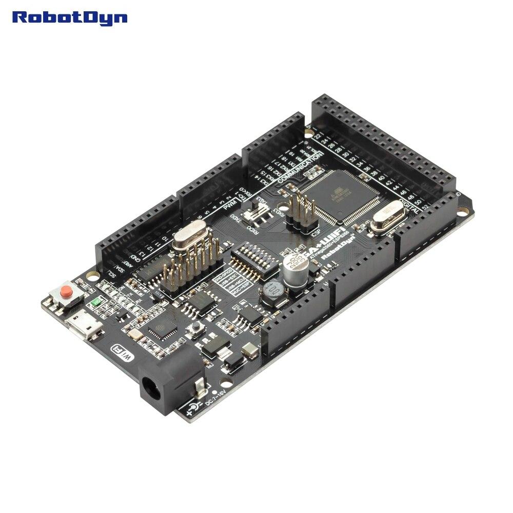 Mega + WiFi R3 ATmega2560 + ESP8266 (32 Mb de memória), USB-TTL CH340G. Compatível com Arduino Mega, NodeMCU, WeMos ESP8266