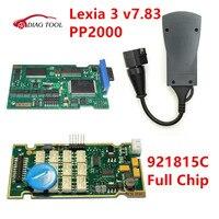 V7.83 PP2000 921815C ile Lexia 3 Tam Çip Lexia3 V48 PP2000 V25 Için Citroen Peugeot Diagbox 7.83 TAM ÇIP için Tanı Aracı