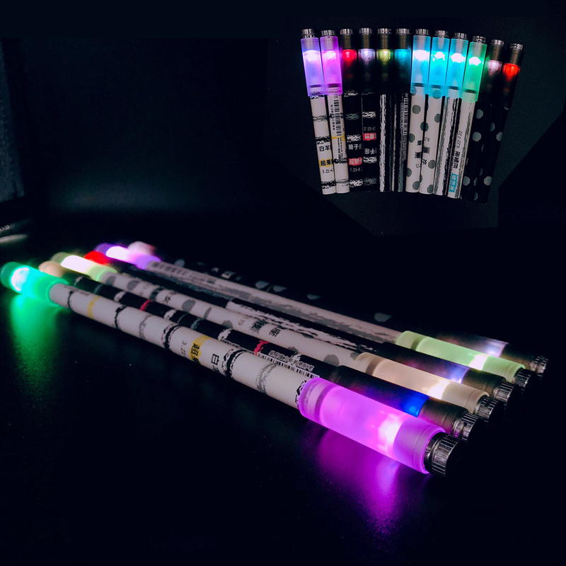 Creative Magnetic Folding Spinning Pen Flash Glitter Rotating Gaming Gel Pens For Kids Gift Toys Pen Novelty School Stationery