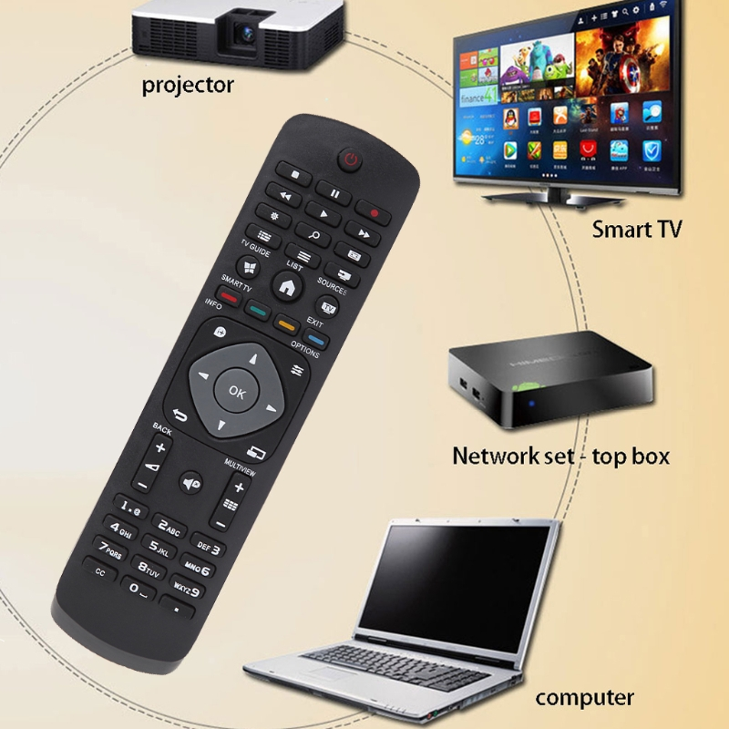 OOTDTY TV Remote Control Replacement Television Controller For Philips