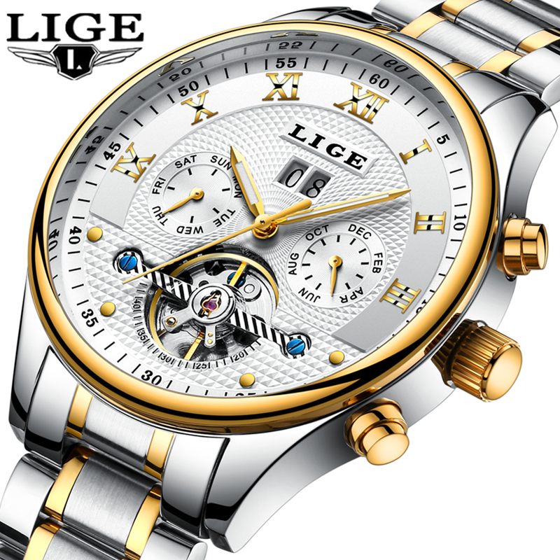 2018LIGE Mens Watches Top Brand Luxury Men's Automatic Mechanical Watch Men's Stainless Steel Waterproof Watch Relogio Masculino 2017 switzerland automatic mechanical men watch sapphire stainless steel relogio waterproof mens watches top brand luxury b5005