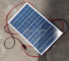 10W Polycrystalline Solar Panel+Crocodile Clip For 12V Car/Boat/Motor Battery Portable Solar Charger 2pcs/lot Free Shipping