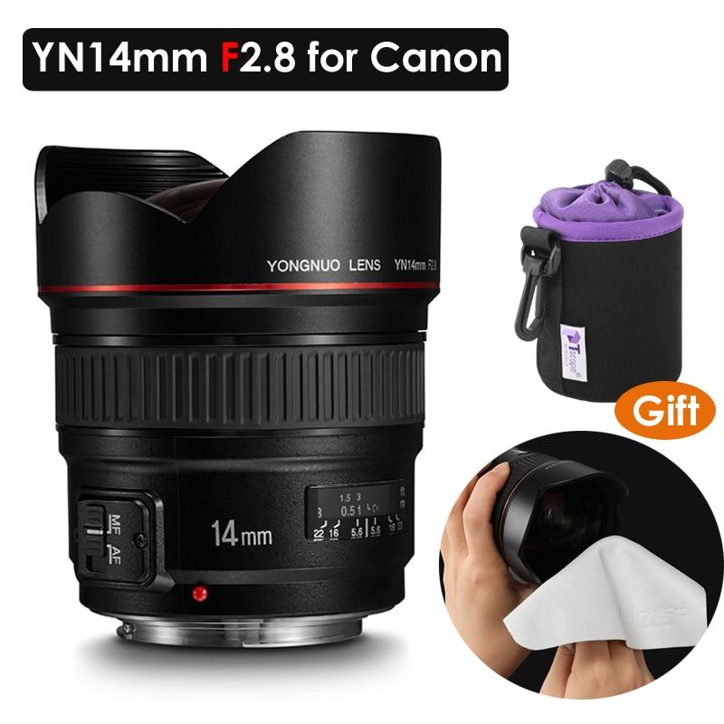 YONGNUO objectif premier Ultra grand Angle YN14mm F2.8 mise au point automatique AF MF monture métallique pour Canon 5D Mark II IV 6D 700D 80D 70D caméra
