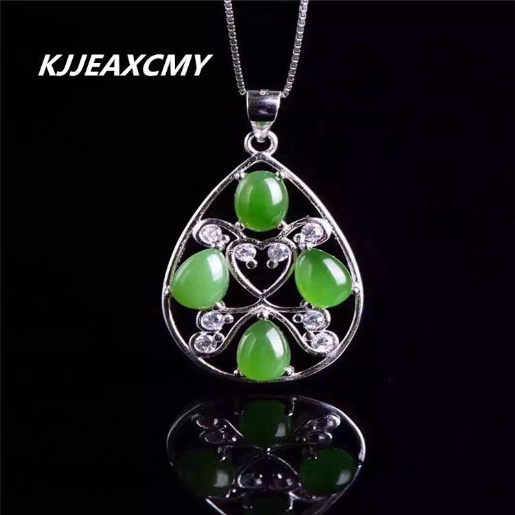 KJJEAXCMY boutique bijoux, ensemble pendentif en jade naturel, bijoux pour femmes en gros, 925 argent SterlingKJJEAXCMY boutique bijoux, ensemble pendentif en jade naturel, bijoux pour femmes en gros, 925 argent Sterling
