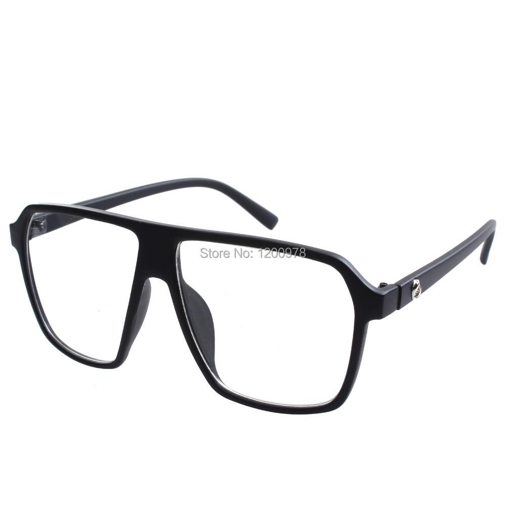 1 Paar damen herren große klare linse hochwertige mode brille ...