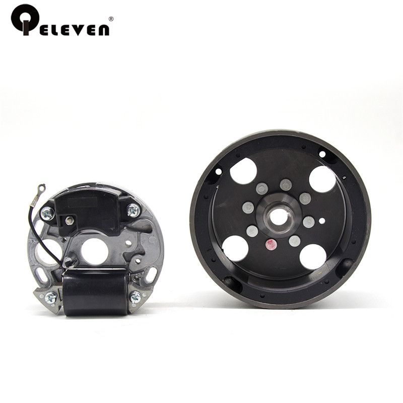 цена на Qeleven Chainsaw Flywheel and Ignition Coil Assembly Kit Fit For MS 070 MS 090 Chain Saw Parts Garden Tool Parts