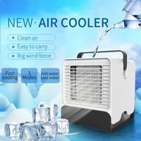 Portable Air Conditioner USB Mini Air Cooler Humidifier Purifier Colorful LED Light Personal Space Fan Air Cooling Fan