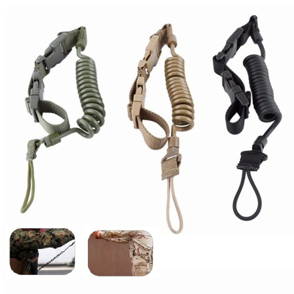 Elastic Tactical Safety Lanyard Rope Outdoor Anti-lost Elastic Key Ring EDC Extension-type Spring Adjustable Belt NEW Arrival