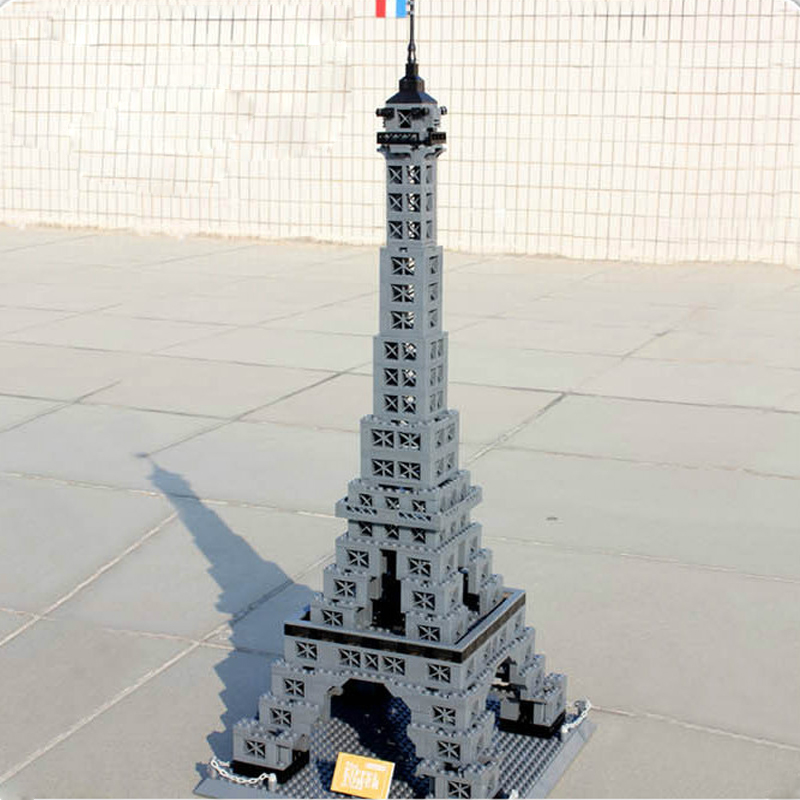 Legoed city street view Architecture The Eiffel Tower Building Blocks Bricks toys model kits Toy For Children with 10181 17002Legoed city street view Architecture The Eiffel Tower Building Blocks Bricks toys model kits Toy For Children with 10181 17002