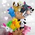 10 PCS Zoo Farm Animal Finger Puppets Brinquedos Meninos Meninas Meninos Festa Bolsa Filler Nova Chegada