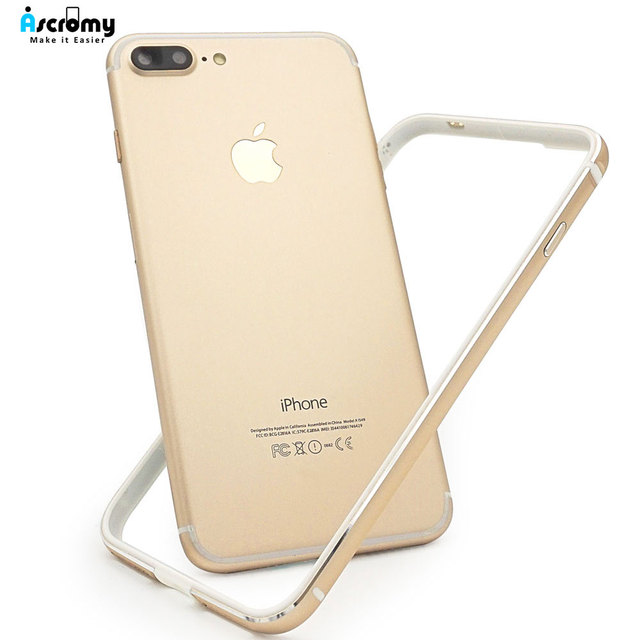 Ascromy For iPhone 7 Bumper Metal Case Aluminium Frame Silicone Shockproof Case For iPhone 8 Plus 7plus 6 6S SE 5 5S Accessories