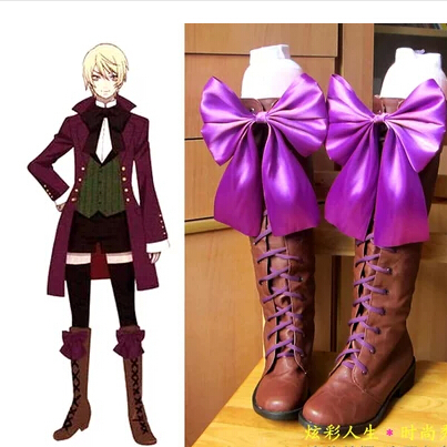 New Anime Black Butler II 2 Alois Trancy Cosplay Boots Shoes customized