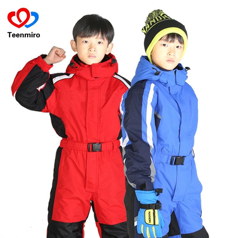 1104688f2 Winter Boys Girls Clothes Set Ski Suit Windproof Waterproof Children ...