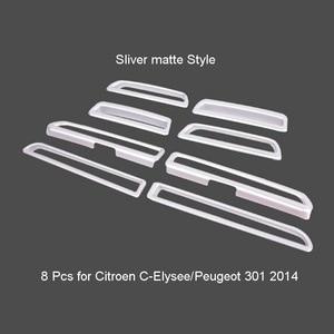 Image 5 - Tonlinker الداخلية لوحة منفذ غطاء ملصقات Citroen C Elysee/بيجو 301 تصفيف السيارة 8 قطعة ABS كروم غطاء ملصقات