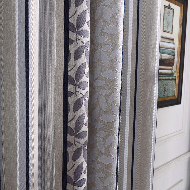 Jakarlı Perdeleri Bitmiş Dalga Noktası 3 Renk Çizgili Perdeleri - Ev Tekstili - Fotoğraf 5