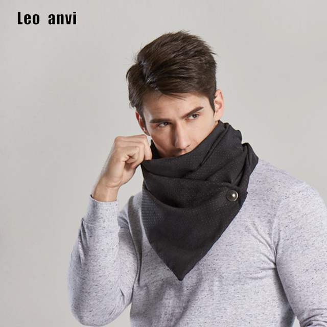 e65f83b3d leo anvi winter ring scarf men magic scarves male bandana face mask retro  two color neutral novelty fashion shawl hijab