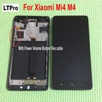 LTPro 100% Çalışma Test LCD Ekran Dokunmatik Ekran Digitizer Meclisi ile Xiaomi Mi4 M4 MI 4 telefon parçaları Için çerçeve Siyah beyaz