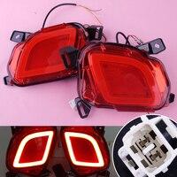 Beler 2pcs Car 12V LED Rear Bumper Brake Lights Turn Signal Lamps DRL Taillights For Toyota