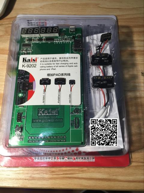 K-9202 16 en 1 profesional de activación de la batería placa de carga con cable usb mic para iphone 4/5s/6/6 s/6 s plus para ipad 2/3/4/5/6