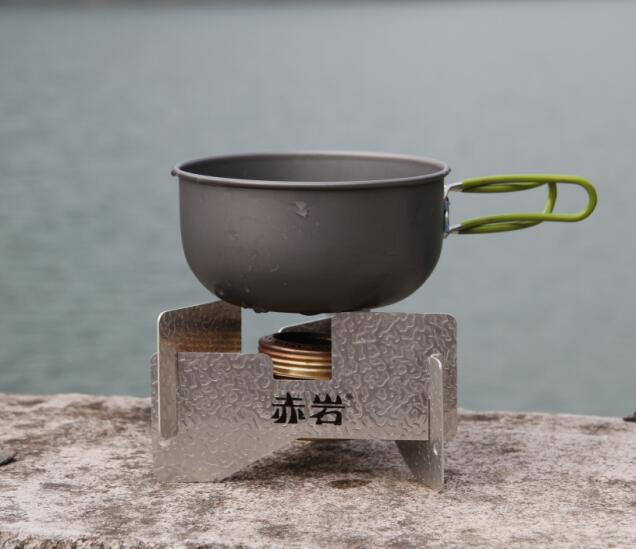 camping hiking wood stove outdoor cookware multifunctional portable camping stove firewood stove Stainless steel gas-burning