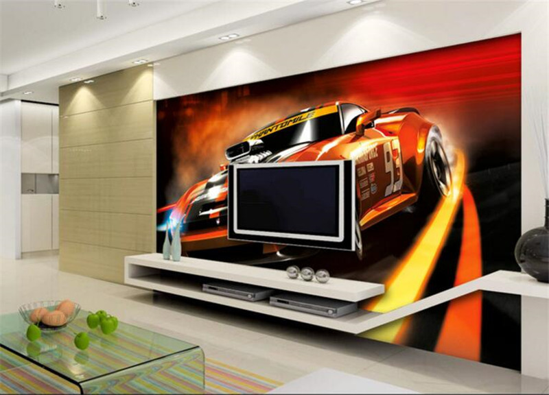 Cars Wallpaper Mural Wallpaper Bedroom Decoration Custom Photo Wallpaper Modern Living Room Furniture Ideas TV Room Furniture